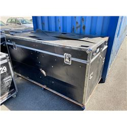 "ROLLING ROAD CASE, 83"" WIDE X 44"" DEEP X 46"" TALL"