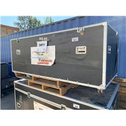 "ROLLING ROAD CASE, 88"" WIDE X 48"" DEEP X 37"" TALL - NO LID"
