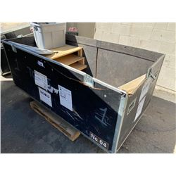 "ROLLING ROAD CASE, 82"" WIDE X 33"" DEEP X 44"" TALL - NO LID"