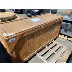 """WOODEN ROAD CASE, MEASURES: 82"""" WIDE X 28"""" DEEP X 36"""" TALL"""