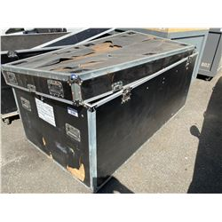 """ROLLING ROAD CASE, MEASURES: 82"""" WIDE X 43"""" DEEP X 41"""" TALL"""