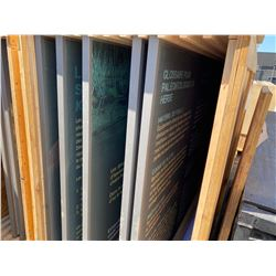 LARGE CRATE OF LARGE FORMAT GRAPHICS