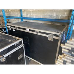"""ROLLING STACKABLE ROAD CASE, 86"""" WIDE X 45"""" DEEP X 53"""" TALL, IN EXCELLENT CONDITION"""
