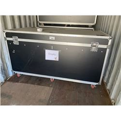"ROLLING STACKABLE ROAD CASE, 83"" WIDE X 44"" DEEP X 46"" TALL, IN EXCELLENT CONDITION"