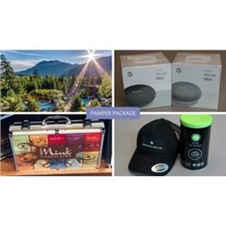 PAMPER PACKAGE: $85 Scandinave Spa Gift Certificate, Mink Chocolate Briefcase, 2x Google Home Mini,
