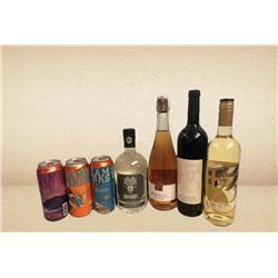 Local Beer, Wine and Whiskey Gift Package