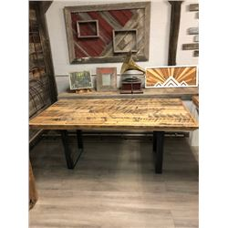 Wooden Table made of Repurposed Woods
