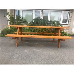 Hand Made West Coast Cedar Extra-Large Picnic Table