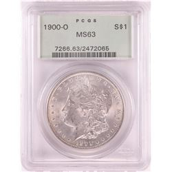 1900-O $1 Morgan Silver Dollar Coin PCGS MS63 Old Green Holder