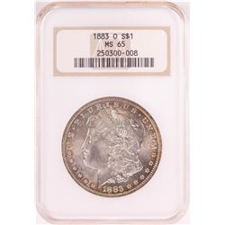 1883-O $1 Morgan Silver Dollar Coin NGC MS65 Old Holder