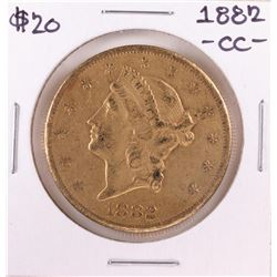1882-CC $20 Liberty Head Double Eagle Gold Coin