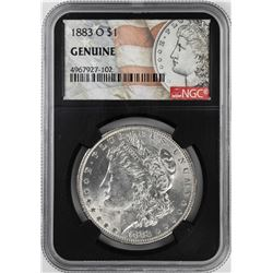 1883-O $1 Morgan Silver Dollar Coin NGC Genuine