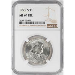 1953 Franklin Half Dollar Coin NGC MS64FBL