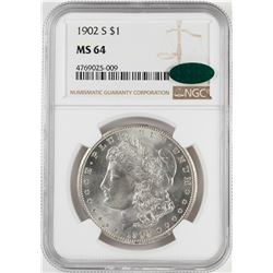1902-S $1 Morgan Silver Dollar Coin NGC MS64 CAC