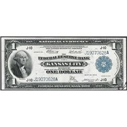 1918 $1 Federal Reserve Note Kansas City