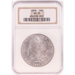1896 $1 Morgan Silver Dollar Coin NGC MS65 Old Holder
