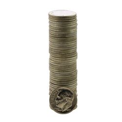 Roll of (50) Brilliant Uncirculated 1957-D Roosevelt Dime Coins