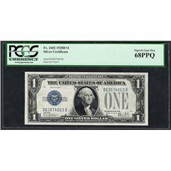 1928B $1 Funnyback Silver Certificate Note Fr.1602 PCGS Superb Gem New 68PPQ