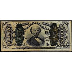 March 3, 1863 Fifty Cents Third Issue Spinner Fractional Currency Note
