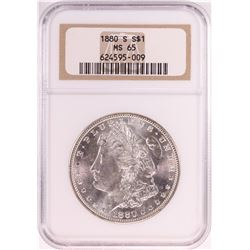 1880-S $1 Morgan Silver Dollar Coin NGC MS65 Old Holder
