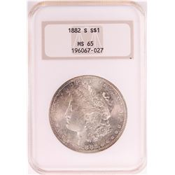 1882-S $1 Morgan Silver Dollar Coin NGC MS65 Old Holder