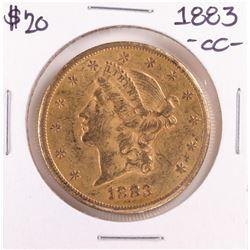 1883-CC $20 Liberty Head Double Eagle Gold Coin