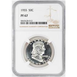 1955 Proof Franklin Half Dollar Coin NGC PF67