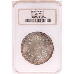 1884-O $1 Morgan Silver Dollar Coin NGC MS65 Nice Toning Old Holder