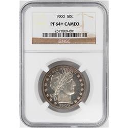 1900 Proof Barber Half Dollar Coin NGC PF64+ Cameo