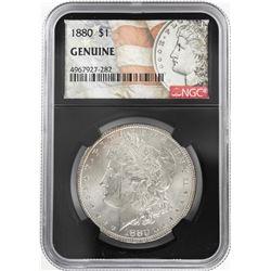 1880 $1 Morgan Silver Dollar Coin NGC Genuine