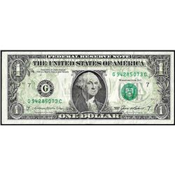 1985 $1 Federal Reserve Note Full Offset ERROR