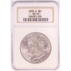 1899-O $1 Morgan Silver Dollar Coin NGC MS65 Old Holder