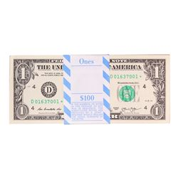 Pack of (100) Consecutive 2013 $1 Federal Reserve STAR Notes Cleveland