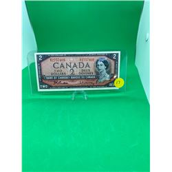 1954 BANK OF CANADA $2 NOTE