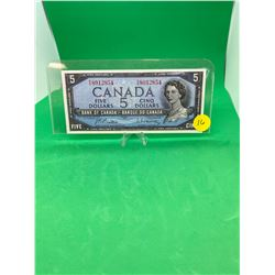 1954 BANK OF CANADA $5 NOTE