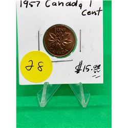 1957 CANADA 1 CENT.MS++