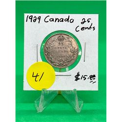 1929 CANADA 25 CENTS