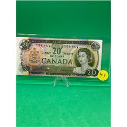 1969 BANK OF CANADA $20 NOTE
