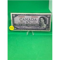 1954 BANK OF CANADA $10 NOTE