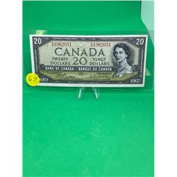 1954 BANK OF CANADA $20 NOTE.