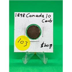 1898 CANADA 10 CENTS