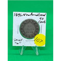 1896 NEWFOUNDLAND 50 CENTS