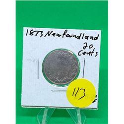 1873 NEWFOUNDLAND 20 CENTS