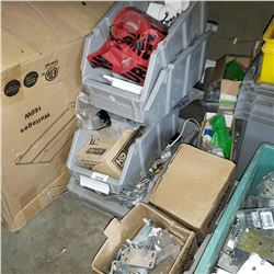 LARGE LOT OF ELECTRICAL COUPLINGS, CONNECTORS, PROTECTION PLATES, DATA JACKS