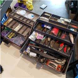2 TACKLE BOXES W/ CONTENTS