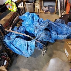 CART WITH TARP AND TOOLS
