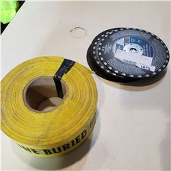 CUTTING DISCS AND CAUTION TAPE
