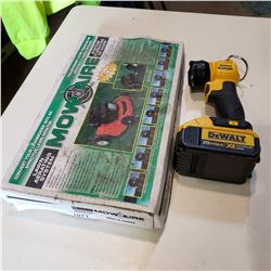 DEWALT 20V CORDLESS FLASH LIGHT W/ BATTERY AND MOWAIRE