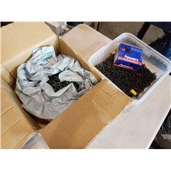 BIN AND BOX OF SCREWS