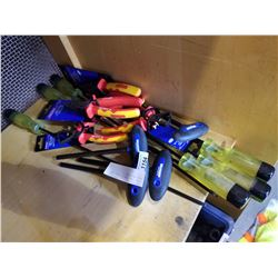 EXTRA LONG SCREW DRIVERS, HEX KEYS AND PLIERS